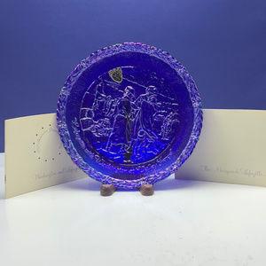 Fenton carnival glass plate bicentennial 1976 vtg